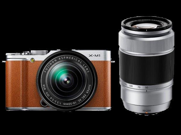 [Saturn Late Night] FUJI X-M 1+ XC 16-50mm + XC 50-230mm braun 449€ Systemkamera