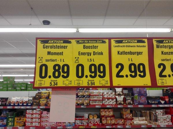 [lokal Bad Dürkheim] [Netto] Booster Energydrink und Punica 1,5l Flasche für 99 Cent + Pfand