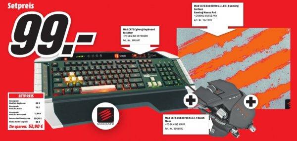 [Lokal MM Porta Westfalica] Mad Catz Cyborg Keyboard + Mad Catz RAT 7 Maus + Mad Catz GLIDE 3 Mousepad für insgesamt 99,-€