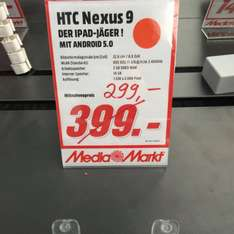 [Media Markt Hannover Vahrenwalder] HTC Nexus 9 16GB Wifi 299,-