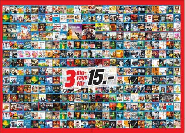 (lokal Halle/S.) Media Markt 3 Blu-Ray für 15€