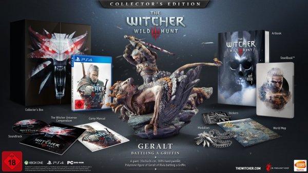 [Amazon] The Witcher 3 Collector's Edition wieder verfügbar für PlayStation 4 + Xbox One