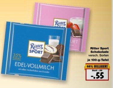 [KAUFLAND regional] KW09: Ritter Sport 100g für 55cent ab 23.02.