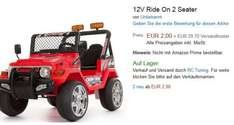 12V Ride On 2 Seater Kinderauto 2,00€ + 15,95€ Versandkosten