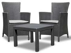Allibert Rosario Lounge Garten Balkon Set 3-teilig Rattan, 119,- EUR @ amazon