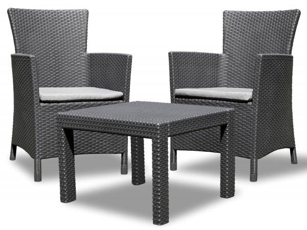 Allibert Rosario Lounge Garten Balkon Set 3-teilig Rattan, 119,- EUR @ amazon