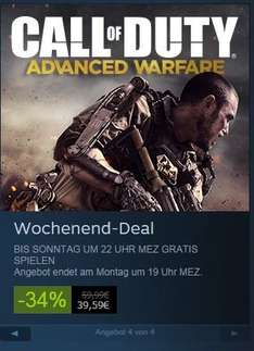 [Steam] Call of Duty Advanced Warefare Multiplayer übers Wochenende gratis zocken