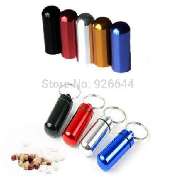 (CN) Pillendose für Schlüsselbund /  Geocaching Nano/Micro Versteck (Wasserdicht durch Gummi im Rand) für 59 Cent @ Aliexpress