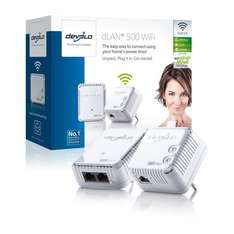 devolo dLAN 500 WiFi Starter Kit (500 Mbit/s, WLAN Repeater, 1 LAN Port, Kompaktgehäuse, Powerline) weiß @AmazonBlitzangebot