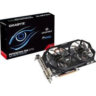 2048MB Gigabyte Radeon R9 270 Windforce 2X OC Aktiv PCIe 3.0 x16 (Retail) 137€