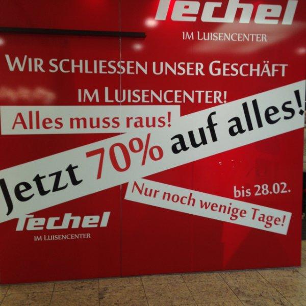 70% auf Alles bei Juwelier Techel Darmstadt