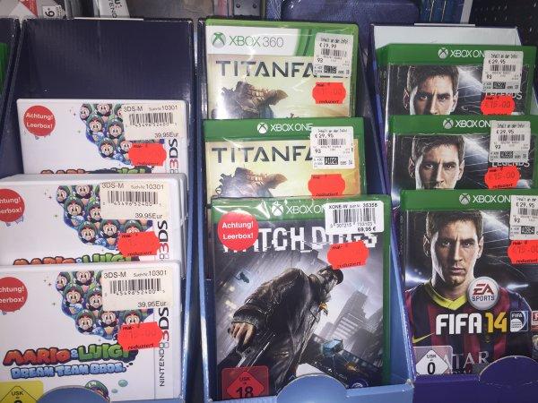 (Real Spandau Arcaden) Diverse Spiele wie Mario & Luigi: Dream Team Bros. (3DS) , Titanfall etc im Angebot