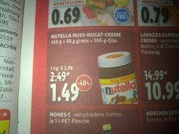 [lokal?] München Tengelmann Nutella 500g/1,49Eur = 2,98Eur/kg