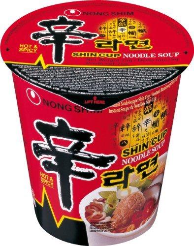 12 x 75g Nong Shim Shin Cup Instantnudeln über MHD für 6,90€ @eBay (Vergleichspreis: 11,88€)