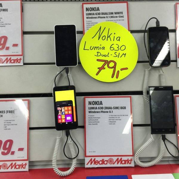 MM Köln-Marsdorf: Lumia 630 Dual-Sim 8GB versch. Farben 79€