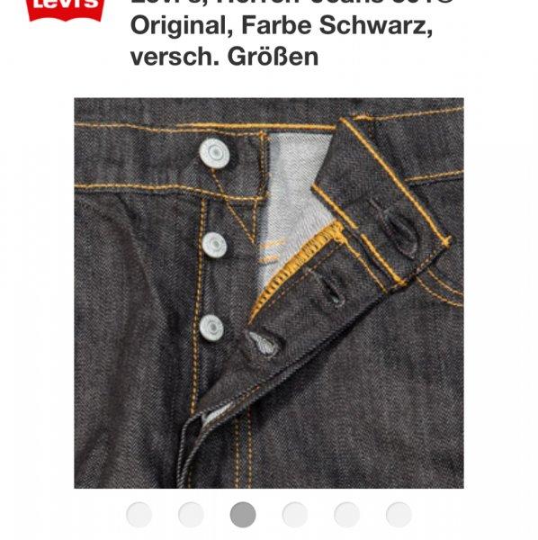Levi's Levi's, Herren-Jeans 501® Original, Farbe Schwarz, nur Größe 32/32