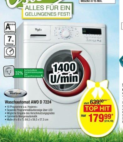 [Metro] Whirlpool (Bauknecht) Waschmaschine 7kg, A+++ für 214.19Euro (Idealo ab 330Euro)