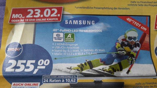 "[real bundesweit] Samsung 40""-FullHD-LED-TV UE40H5000 (23.02., ab 18 Uhr online)"
