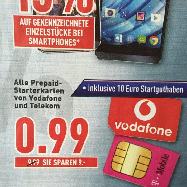 Prepaid Karten Telekom und Vodafone