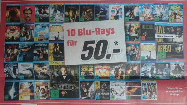 [Media Markt (vielleicht Deutschlandweit )] 10 Blu-Rays für 50€ -