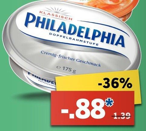 36% Rabatt - 88 Cent anstatt 1,39€ Philadelphia Frischkäsesorten