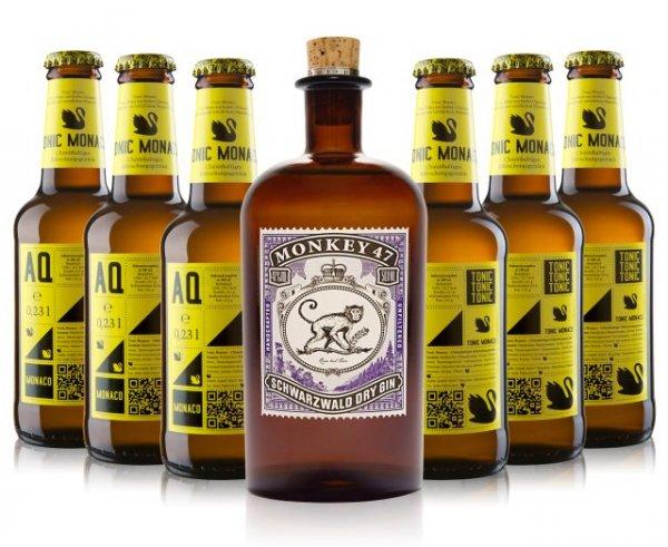 Monkey 47 Gin & 6 Faschen Tonic für 36€ inkl. Versand (statt 49€) Über 25% Ersparnis & Qipu
