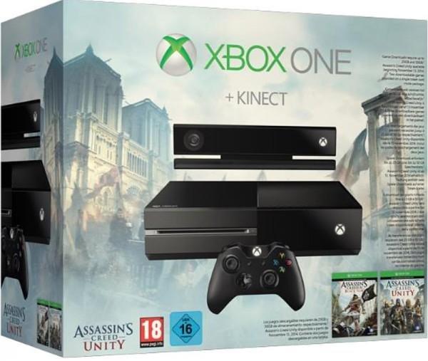 Xbox One Kinect inkl.AC Unity und Black Flag und Dance Cental 500GB