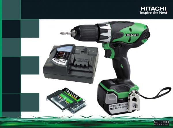 Akku-Schlagbohrschrauber-Set Hitachi DV 14 DSL Set Ebay 126,98