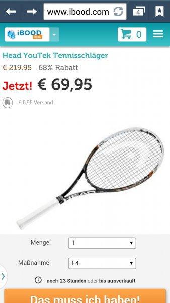 [IBOOD] Head Graphene YouTek Speed MP 16/19 Tennisschläger für 75,90 € statt 98,90 €