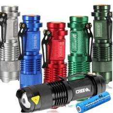 Ultrafire CREE XPE Q5 300lm Mini LED Flashlight +14500