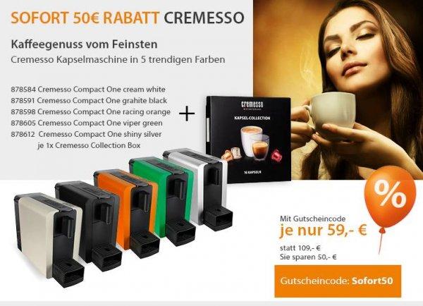Cremesso Kapselmaschine Compact One für 59,00 inkl. Versand