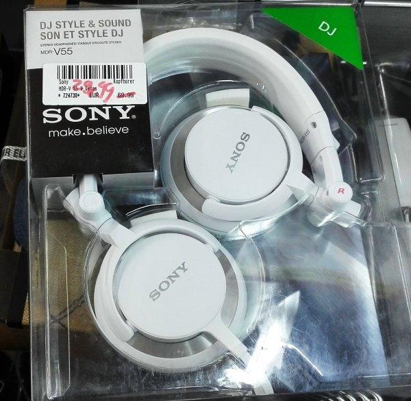 SONY MDR-V55 Street-DJ-Kopfhörer für 29,99 € [lokal Medimax Wilmersdorfer Arkaden]