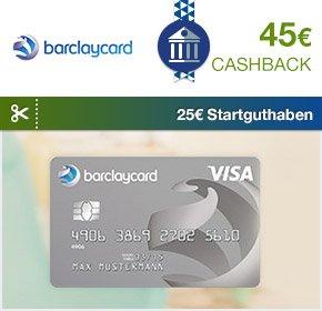 [wieder da] Barclay New Visa Card mit 25SGH+45€ qipu!