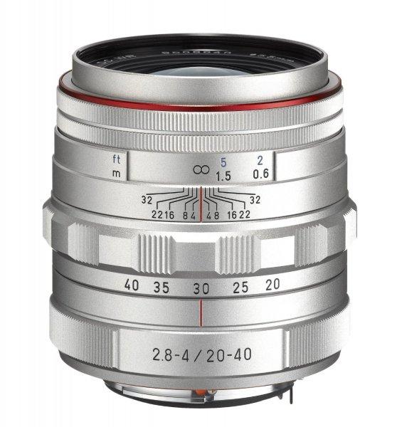 Pentax 20-40 mm / F 2,8-4,0 HD DA ED LIMITED DC WR Objektiv silber für 553,21 € @Amazon.fr