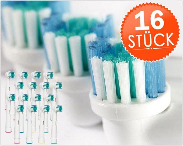 16 STÜCK AUFSTECKBÜRSTEN FÜR ORAL-B ZAHNBÜRSTEN für 12,95 inkl. Versand [dayfty.com] - Die alternative zum Original - Vergleichbar mit Oral B Precision / Sehr gute Qualität