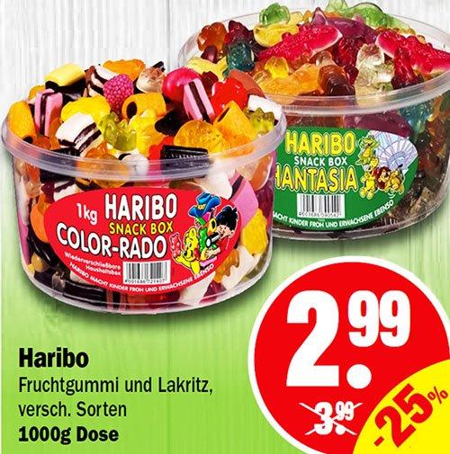 1 Kg Haribo Color-Rado und Phantasia vom 2.3.-7.3. für nur 2,99 € [NP Discount]