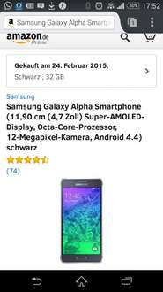 (Warenhouse Deals) Samsung Alpha