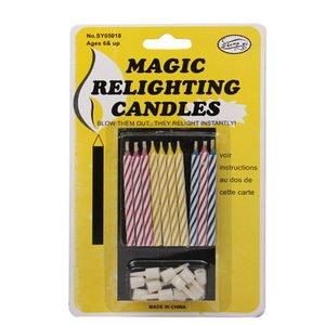 10 magische Kerzen mit Halter - nicht ausblasbare Geburtstagskerzen bei ebay