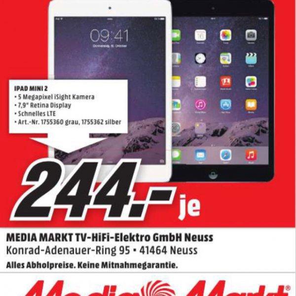 [Lokal Neuss] iPad Mini 2 mit Retina Display 16GB WiFi und LTE für 244€