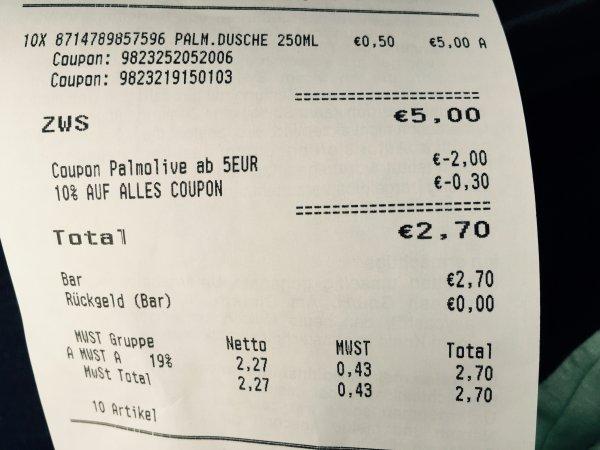 [ROSSMANN] Bundesweit Green Label Palmolive Duschgel 10 x für 3,00