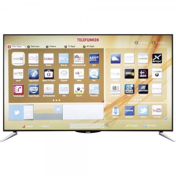 LED-Fernseher 65 Zoll Telefunken L65F243A3C DVB-T/C/S, Full HD, Smart TV, WLAN, CI+ Schwarz [BWare]