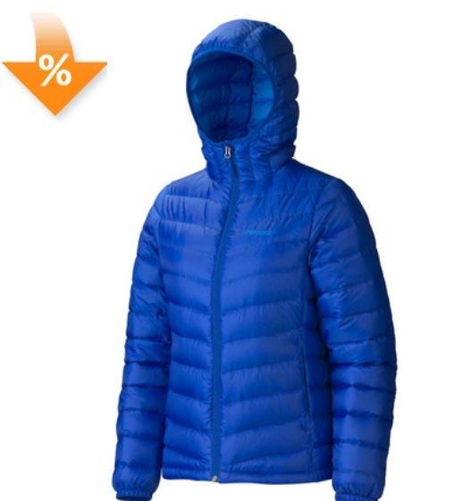 Marmot Women's Jena Hoody-Daunenjacke in blau für 69,95€ und andere Angebote @globetrotter.de