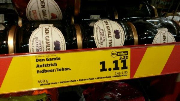 Lokal Vechelde - Den Gamle Fabrik Fruchtaufstrich 600 g für 1,11 EUR