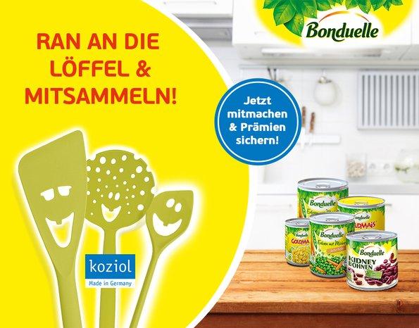 6x bonduelle Dosen kaufen und gratis koziol Küchenhelfer per Post erhalten