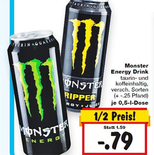Monster Energy Drink ab Donnerstag den 5.3. bei [ Kaufland - Bundesweit ]