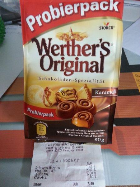 Werther´s Original (alle Sorten) Probierpack 90g 0,50€ bei Penny! [Hannover!][Bundesweit?]