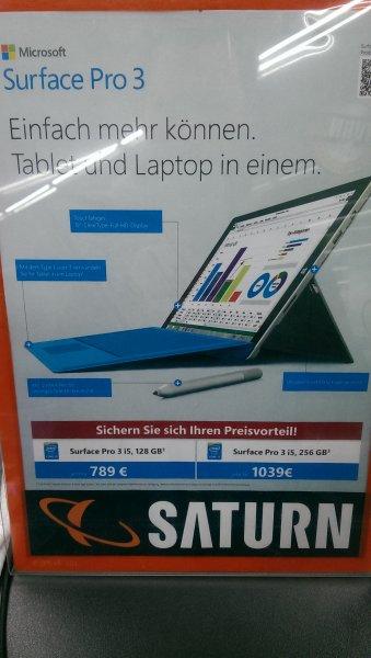 [Lokal Saturn Passau] Surface Pro 3 i5 128GB für 789€ und 256GB für 1039€