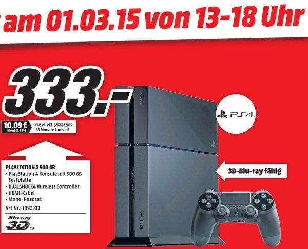 [Lokal Jena] Playstation 4 für 333€ im Media Markt Jena -> nur am 1.3.15
