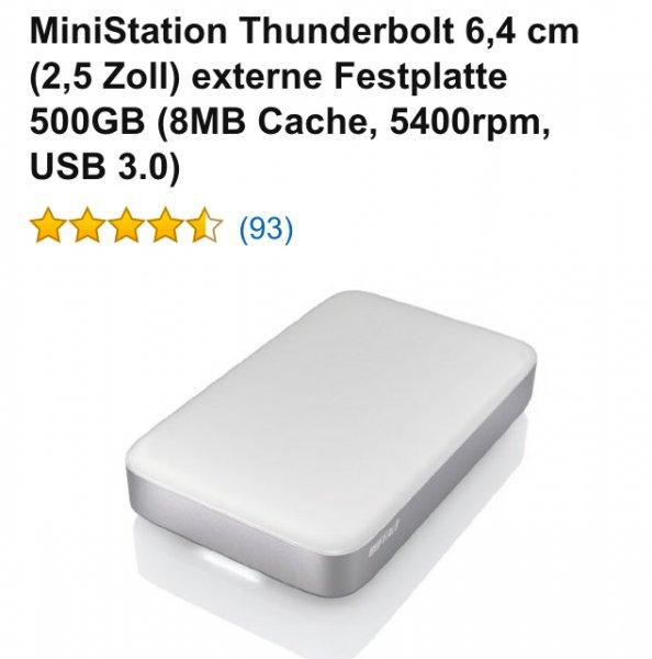 Buffalo Ministation Thunderbolt Festplatte