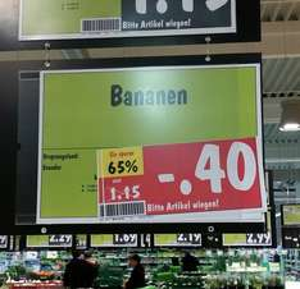 [Lokal Kaufland Essen] Bananen Kilo 40 Cent
